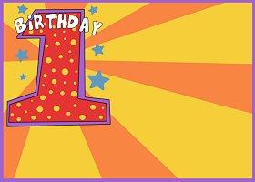 <h3>1st First Birthday Invitation </h3>