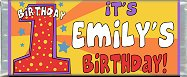 <h3>1st First Birthday Sample Candy Wrapper</h3>