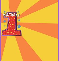 <h3>1st First Birthday Candy Wrapper </h3>