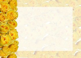 Free Printable Rose Profusion Card and Invitation