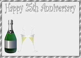 Free Printable 25th Anniversary Card And Invitation