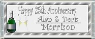 <h3>25th Anniversary Sample Candy Wrapper</h3>