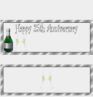 <h3>25th Anniversary Candy Wrapper </h3>