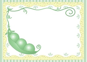 Free Printable 3 Peas In A Pod Card And Invitation