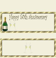 <h3>50th Anniversary Candy Wrapper </h3>