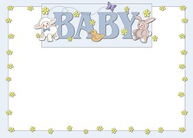 <h3>Baby Animals (boy) Invitation </h3>