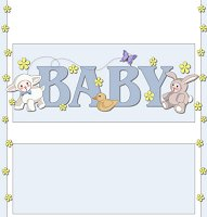 <h3>Baby Animals (boy) Candy Wrapper </h3>