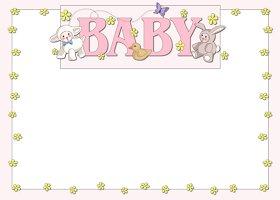<h3>Baby Animals (girl) Invitation </h3>