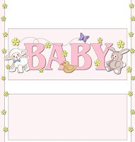 <h3>Baby Animals (girl) Candy Wrapper </h3>