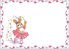 Free Printable Ballerina Bunny Card and Invitation