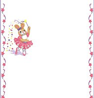 <h3>Ballerina Bunny Candy Wrapper </h3>