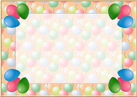 Free Printable Balloon Pearls Card and Invitation