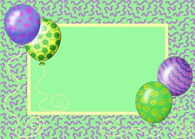 <h3>Party Balloons Invitation </h3>