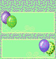 <h3>Party Balloons Candy Wrapper </h3>