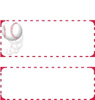 Free Baseball Printable Candy Wrappers Raspberry Swirls