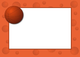 Free Printable Basketball II Invitation