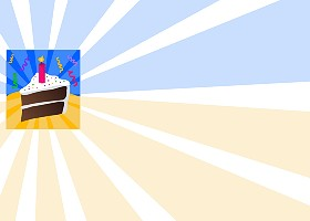 <h3>Birthday Cake Invitation </h3>