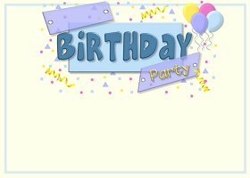 Free Printable Birthday Party Card and Invitation