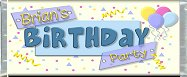 <h3>Birthday Party Sample Candy Wrapper</h3>