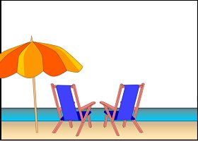 <h3>Beach Chairs Invitation </h3>