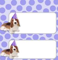 <h3>Party Dog Candy Wrapper </h3>