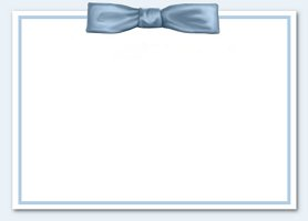 Free Printable Blue Bow Invitation