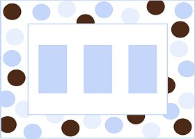 <h3>Blue &amp; Brown Invitation </h3>