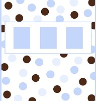 <h3>Blue &amp; Brown Candy Wrapper </h3>