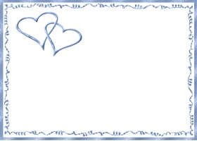 Free Printable Blue Hearts Invitation