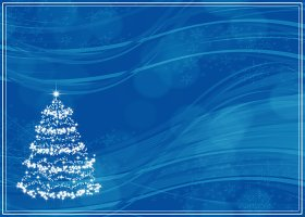 Free Printable Blue Christmas Invitation