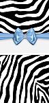 <h3>Blue Zebra Mini Wrapper </h3>