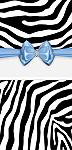 <h3>Blue Zebra Mini Wrapper </h3>