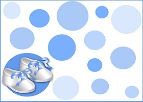 Free Blue Satin Booties Invitation