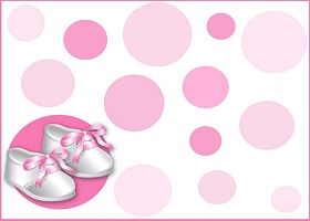 Free Pink Satin Booties Invitation