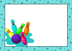 Free Printable Bowling Card And Invitation