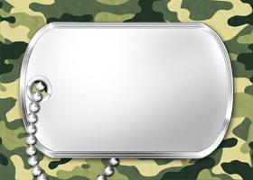 <h3>Military Camo Invitation </h3>