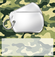 <h3>Military Camo Candy Wrapper </h3>
