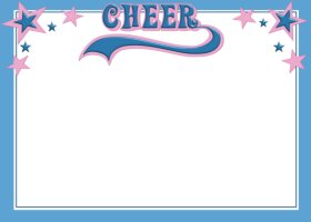 Free Printable Cheerleading Card And Invitation