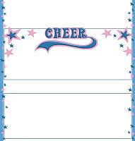 <h3>Cheerleading Candy Wrapper </h3>