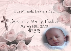 candy wrapper birth announcement sample