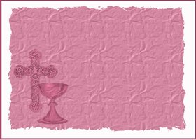 Free Printable Holy Communion - pink Card And Invitation