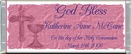 Free Printable Holy Communion - pink Candy Bar Wrapper