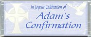 Free Printable Confirmation (blue) Candy Bar Wrapper