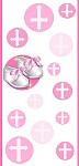 <h3>Christening Shoes (pink) Mini Wrapper </h3>