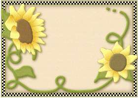 Free Checkered Sunflower Invitation