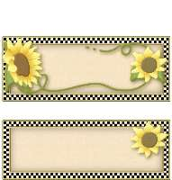 <h3>Checkered Sunflower Candy Wrapper </h3>