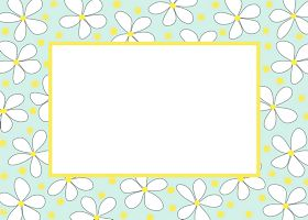 Free Printable Daisies Card And Invitation