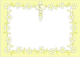 Free Printable Daisy Cross Card and Invitation