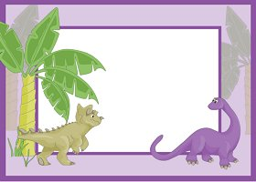 Free Printable Dinosaur Card and Invitation