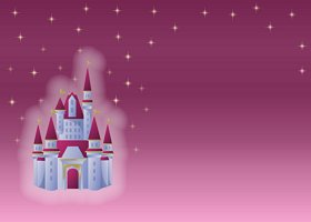 Free Printable Fairytale (in pink) Card and Invitation